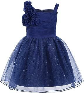 Baby Girls 3D Rose Princess Wedding Christmas Christening Party Tutu Glitter Flower Girl Dress