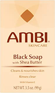 Ambi Skincare Black Soap with Shea Butter, 3.5 Oz (Pack of 6)