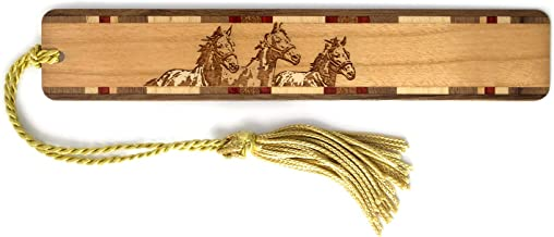 product image for Personalized Horses, Engraved Wooden Bookmark with Tassel - Search B0173Q2O70 for Non-Personalized Version