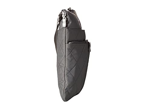 Baggallini Quilted Horizon Crossbody with RFID Wristlet Pewter Quilt Free Shipping Comfortable eUAjUG