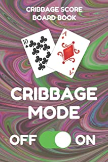 Cribbage Score Board Sheet Book: Scorebook of 100 Score Keeper Sheet Pages For Cribbage Games, Convenient 6 By 9 Inches, Funny Mode Dark Swirl Cover