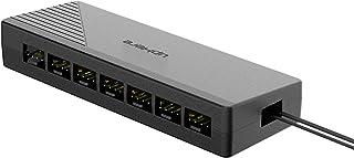 upHere 7 Porte 4PIN SATA PWM Splitter per CPU Cooler Hub Ventola Case Ventola di Raffreddamento Ventole a 4 Pin e 3 Pin Ra...