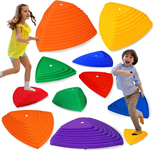 discount JOYLDIAS 11pc Balance Stepping Stones for Kids, River Stones for Kids Indoor and discount Outdoor Toys, Strength Encourage Early Learning Provides Kids Obstacle outlet online sale Course| Max 220 Lbs outlet sale