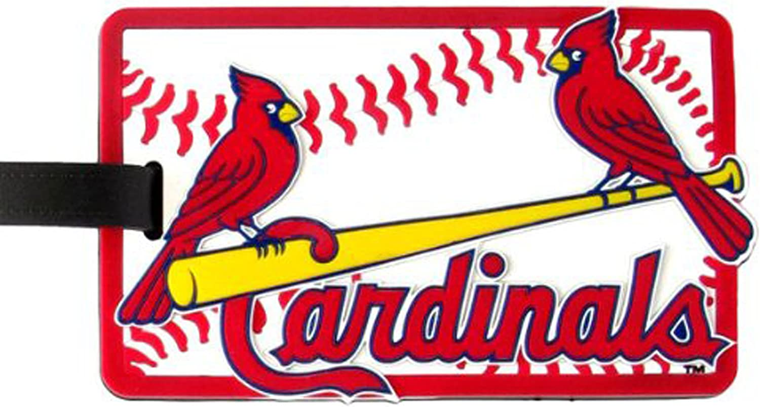 aminco St Louis half Cardinals - MLB Topics on TV One Soft Luggage Tag Bag Size