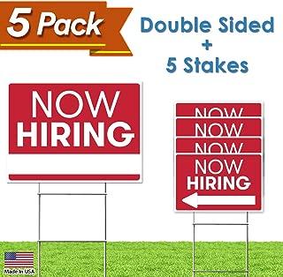 Best now hiring yard signs Reviews