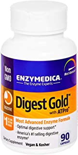 Enzymedica, Digest Gold with ATPro, Daily Digestive Support Supplement with Enzymes and ATP, 90 Capsules (FFP)