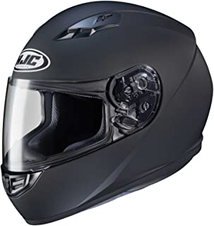 HJC CS-R3 Solid Electric Mens Snowmobile Helmets - Matte Black - Small