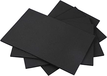 Black Foam Padding, Rubber Sheet Self Adhesive Weather Strip Rubber Cutting Mat Insulation Closed Cell
