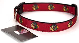 All Star Dogs Chicago Blackhawks Ribbon Dog Collar