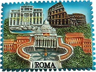 Fontana di Trevi Colosseum Vatican Rome Italy Fridge Magnet City Travel Souvenir Collection 3D Resin Handmade Craft Gift S...