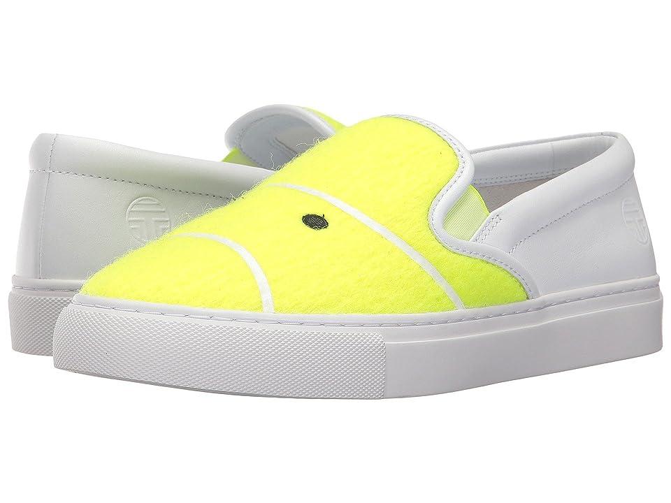 Tory Sport Tennis Felt Sneaker (Fluo Yellow) Women