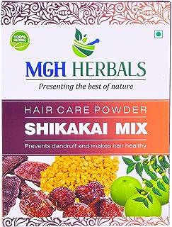 MGH Herbals 100% Natural Organic Shikakai Mix Powder With Amla, Reetha, Bhringraj, Hibiscus, Neem For Hair Wash (Dry Shampoo) 500Gms