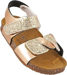 012-344 Biochic Girls Sandals Metallic Gold
