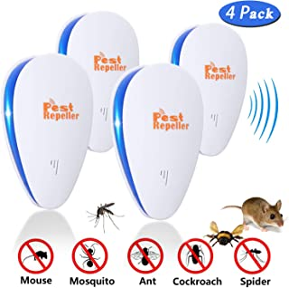 Cocopa Ultrasonic Pest Repeller 2 Pack Indoor Pest Control Insect Repellent Against Mosquitoes Rats Spiders Cockroaches and Flies Outdoor Lighting