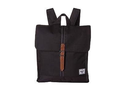 Herschel Supply Co. City Mid-Volume (Black/Black/Tan) Backpack Bags