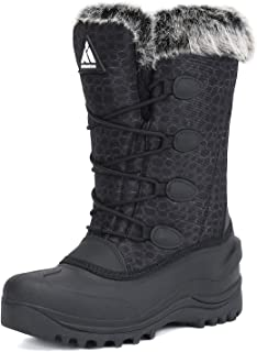 Mishansha Men's Women's Snow Boots Outdoor Warm Mid-Calf Booties Anti-Skid Water Resistant Winter Shoes