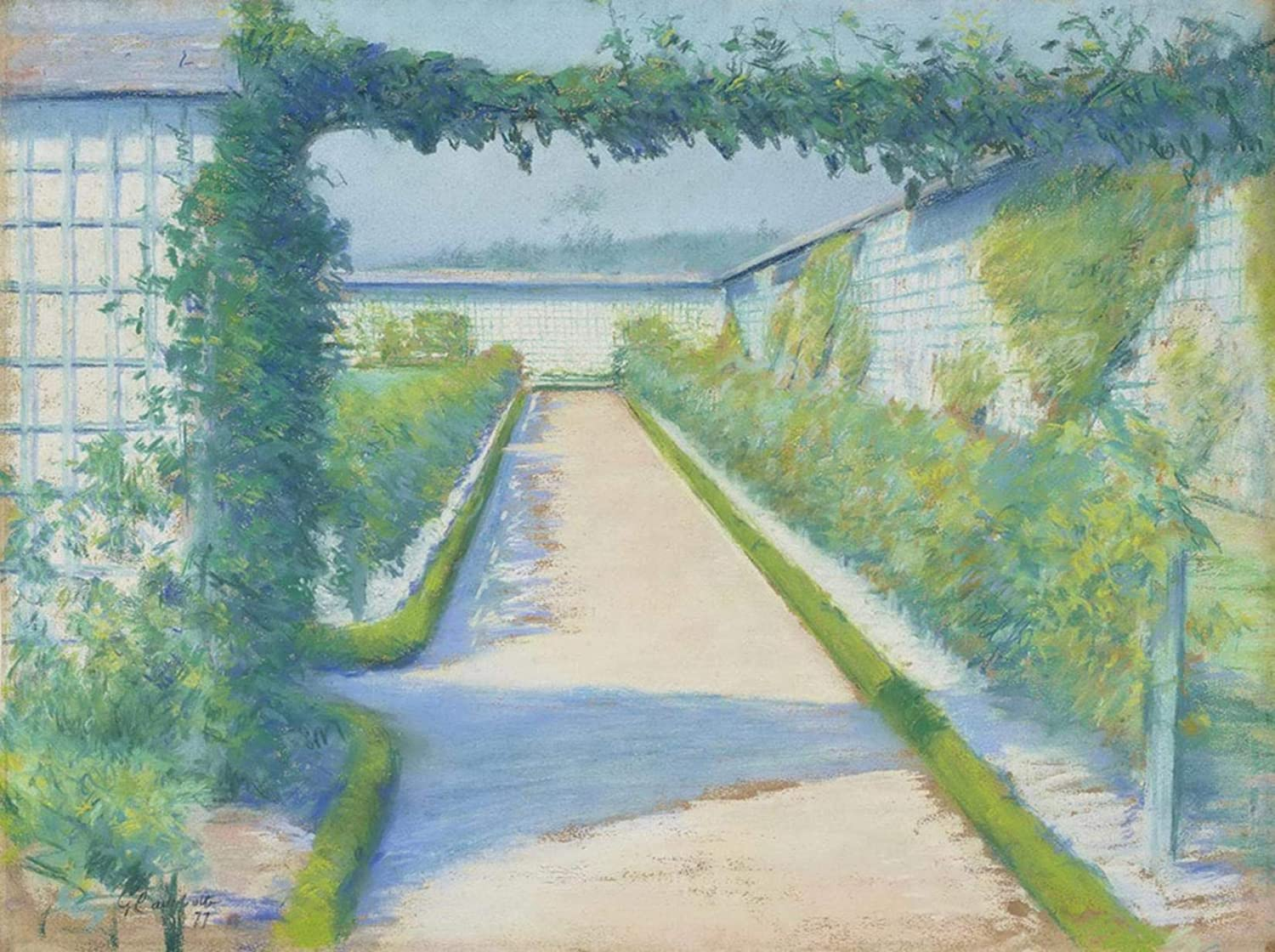 Oil Paint by Number Kits Digital Painting by Numbers for Adults Paint by Number for Kids 16X20 Inch Gustave Caillebotte Garden Vegetable Garden Yerres