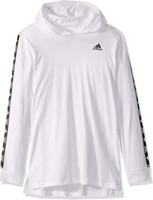 Amazon.com: adidas Boys' Big Long Sleeve Hooded T-Shirt: Clothing ...