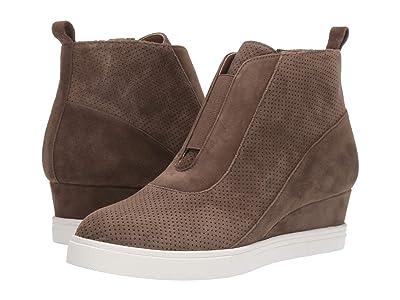LINEA Paolo Anna Wedge Sneaker (Dark Olive Suede) Women