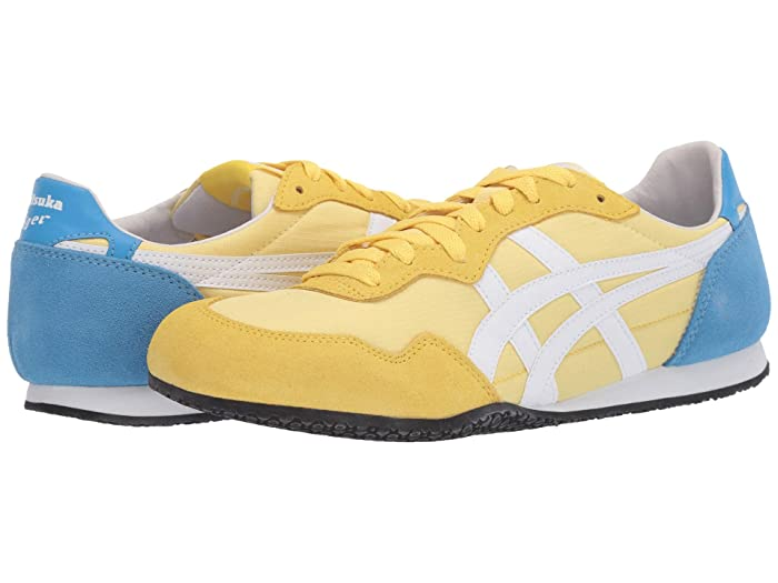 Vintage Sneakers for Men and Women Onitsuka Tiger Serranotm Banana CreamWhite Classic Shoes $72.99 AT vintagedancer.com