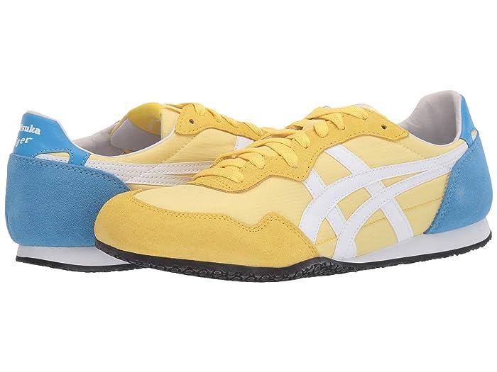 Retro Sneakers, Vintage Tennis Shoes Onitsuka Tiger Serranotm Banana CreamWhite Classic Shoes $72.99 AT vintagedancer.com