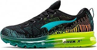 ONEMIX Chaussures de Course sur Route pour Hommes Casual Mesh Athletic Air Cushion Gym Sport Fitness Entraîneurs Baskets