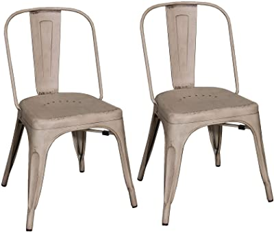 Liberty Furniture Industries Series (Set of 2) Bow Back Side Chair, Vintage Cream