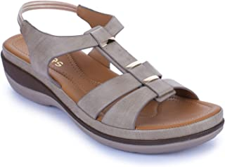 Liberty Healers HM4-29_Beige Ladies Fashion Sandal