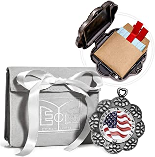 American Flag Keychain Locket That Gifts Emotions Beyond Imagination - Make Your Gift Matter via Eternity Letter