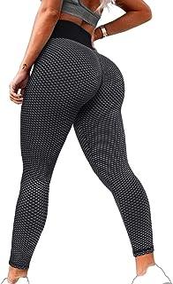 High Waist Yoga Pants Ruched Butt Lifting Workout...