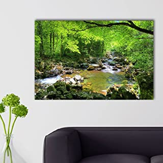 wall26 - Forest Stream Reserve in Autumn - Canvas Art Wall Decor - 32