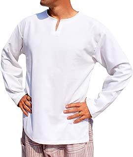 Raan Pah Muang 开领长袖农夫衬衫 普通保暖棉侧开衩