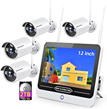 [All-in-One&8CH Expandable&Full HD] Wireless Security Camera System,SMONET 8CH 1080P Video Security System(2TB HDD Include...