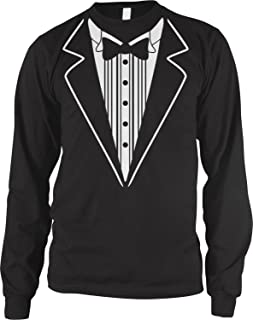 Men's Tuxedo Tux Long Sleeve Shirt