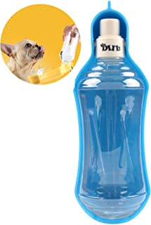Angshop Filtraci/ón Adsorci/ón perro gato mascota botella de agua a prueba de fugas agua al aire libre antibacterial de una mano riego f/ácil de llevar viaje port/átil cuenco agua al aire jugar caminar