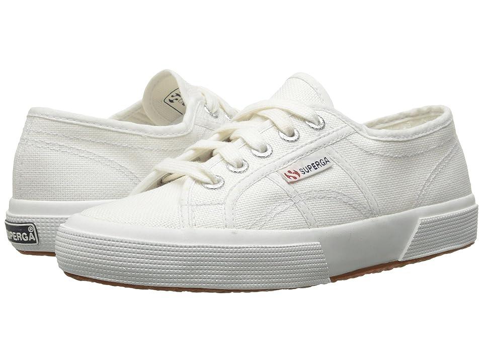 Superga Kids 2750 JCOT Classic (Toddler/Little Kid) (White) Kids Shoes