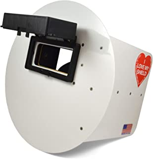 Wendy's Pancake Welding Hood Helmet w/Strap - Right Handed - White FLIP UP Lens