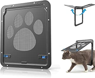 Abzon Pet Screen Door, Sturdy Dog Door Cat Screen Window, Magnetic Automatic Locking, for Pets and Pet Lovers.