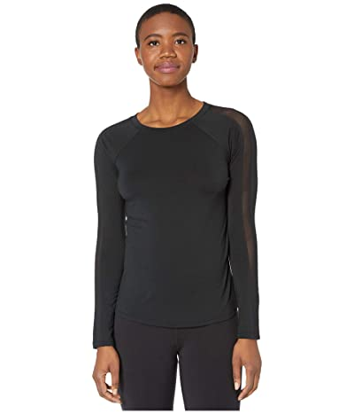 Jockey Active Momentum Long Sleeve Tee (Deep Black) Women