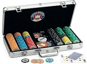 Juego Pro Team 300 - Maletín de Poker I Poker Set I Poker Incluye Cartas de Poker Texas Hold'em, 300 fichas, Dealer y Timer - Aluminio