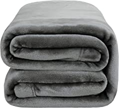 Bedsure Fleece Blanket Queen Size 350GSM - Soft Blankets for Bed All Season,90x90 Inches Grey