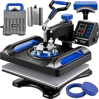 VEVOR Machine Impression Textile 6 en 1 Presse à Chaud Bleue 29x38 cm Imprimante Presse Machine de Sublimation 1000W Machi...