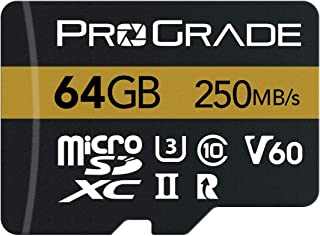microSD Card V60 (64GB) - Tested Like a Full-Size SD Card for use in DSLRs, mirrorless and Aerial or Action Cameras | Up t...