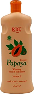RDL Papaya Extract Whitening Lotion for Hand and Body, 600 ml 8992803658439