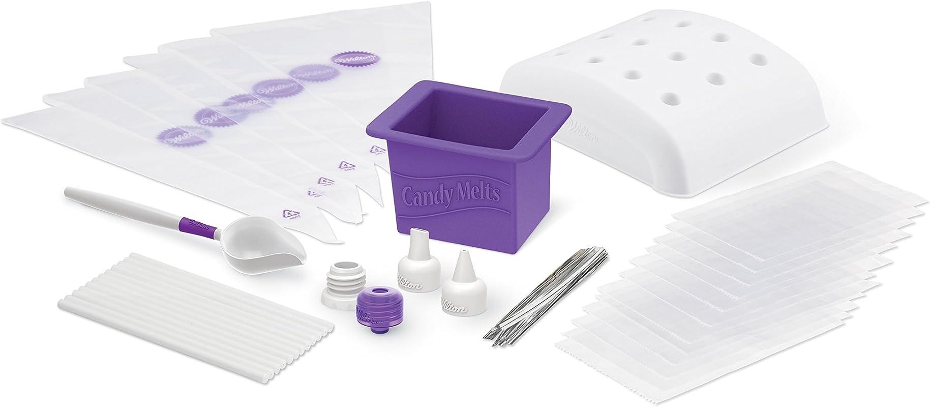 Wilton Dip N Decorate Essentials Set 49 Piece Candy Making Supplies