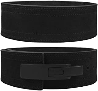 Hawk Sports Lever Belt Black Genuine Leather Powerlifting Men & Women Power Lifting 10mm Weightlifting Belt!