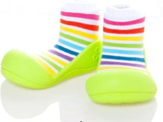 Attipas Rainbow Baby Walker Shoes, Green, X-Large