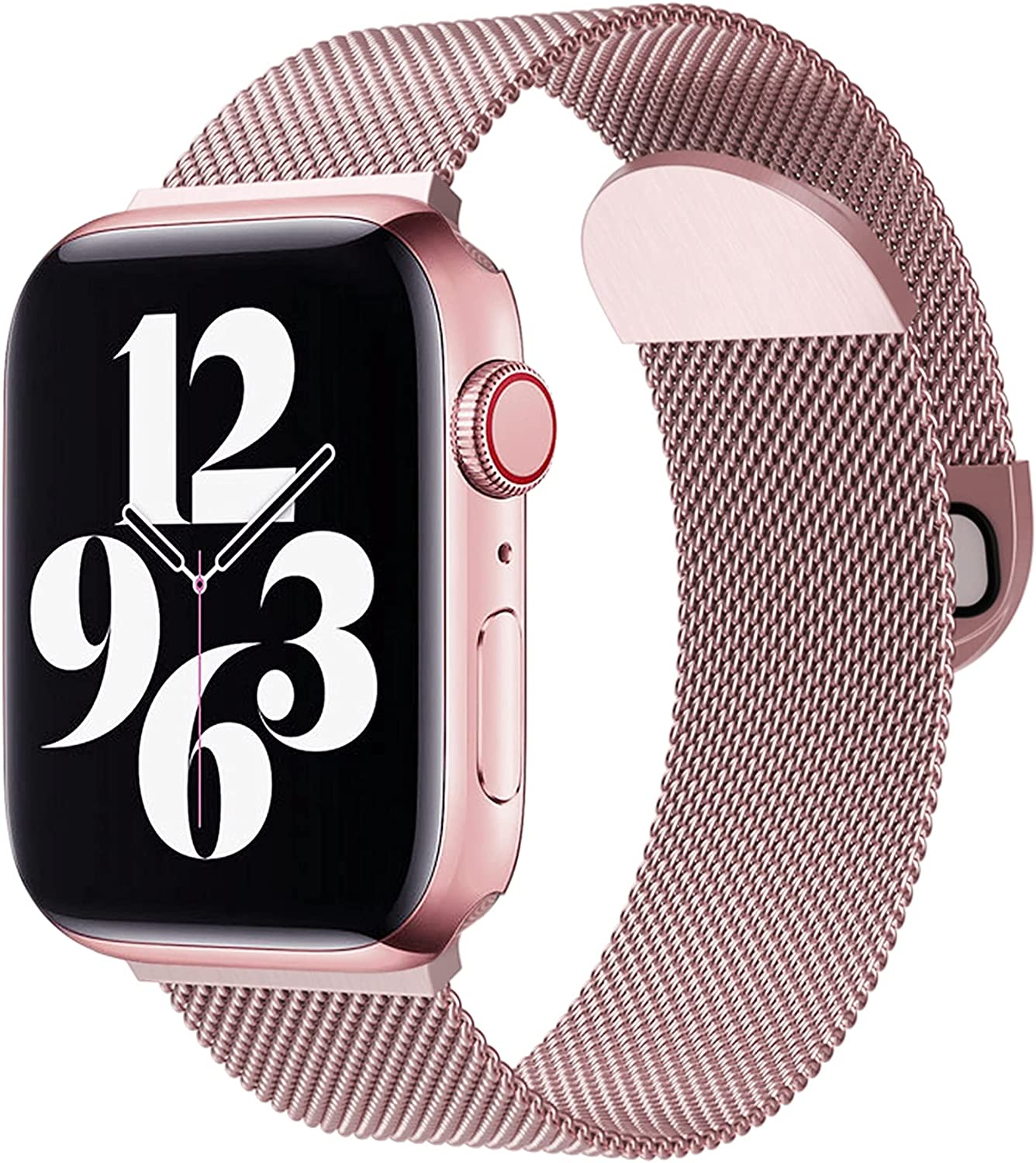 WAAILU Compatible with Apple Watch Band 38mm 40mm 42mm 44mm, Sport Watch Strap Stainless Steel Mesh Magnetic Clasp Compatible for iWatch Series SE/6/5/4/3/2/1
