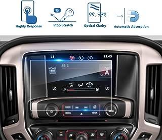 LFOTPP GMC Sierra 1500 2500HD 3500HD 8 Inch 2016-2018 IntelliLink Car Navigation Screen Protector, 9H Tempered Glass Center Touch Screen Protector Anti Scratch High Clarity (8-Inch)