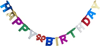 Partyforte Happy Birthday Joint Letter Banner, Assorted